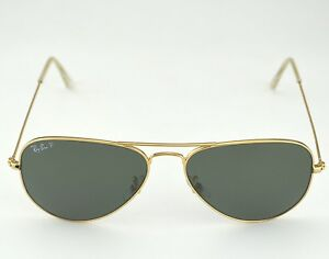 43e16af7511ed Ray Ban RB3025 Aviator Classic 001 58 Gold Frame Polarized Green ...