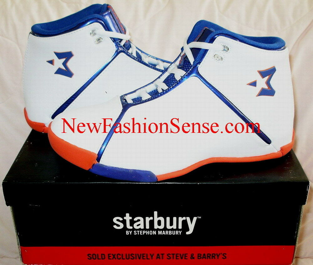 Brand New Starbury One White Athletic Athletic White Orange High Top Basketball Shoes Size 5 50bce6