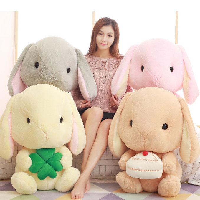 27'' 27'' Animal Rabbit Plush Baby 4 color Doll Toy Stuffed Big Ears 70Cm Kids Gift