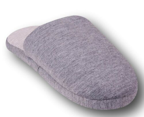 Warm Teens Men Boys Autumn Winter Soft Indoor Slippers Grey Navy Size 4-7 UK