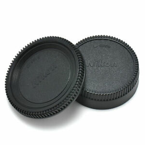 Body-Front-Rear-Lens-Cap-Cover-For-Nikon-AF-AF-S-Lens-DSLR-SLR-BLACK-Camera