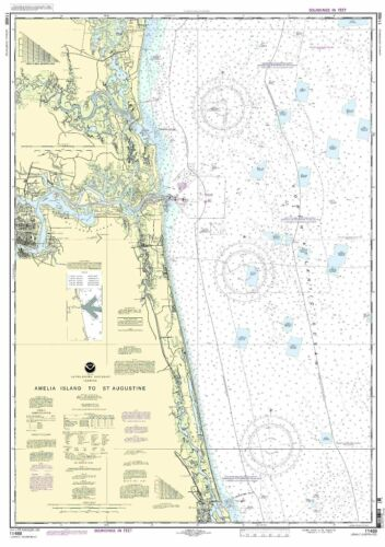 NOAA Chart Amelia Island to St. Augustine 28th Edition 11488