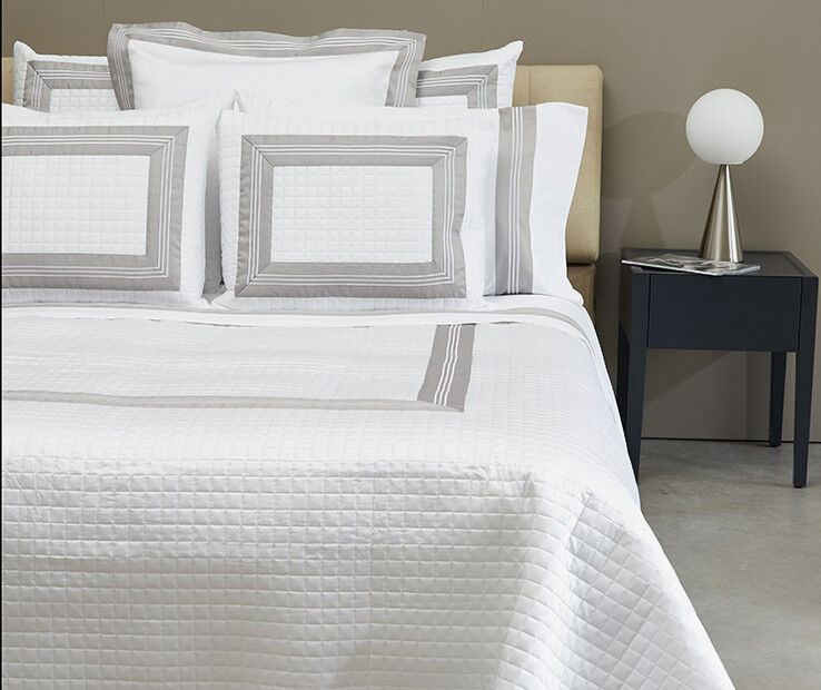 Signoria Firenze Cascina Queen Quilted Coverlet - Ivory Flax