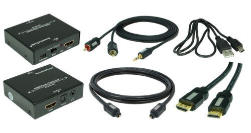 1x 1,5m Toslink 1x 1,5m Klinke-Kabel 1x 0,7m HDMI 4K HDMI Audio-Extraktor