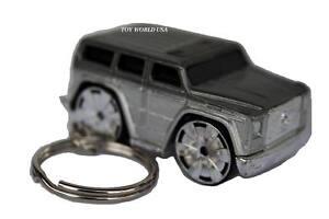 Custom key chain mercedes benz g500 silver ebay for Mercedes benz key rings for sale