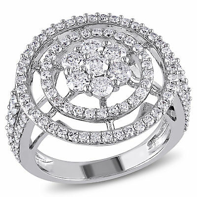 Amour 2 CT TW Diamond Open Floral Engagement Ring in 14k White Gold