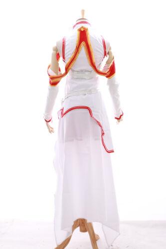 Mn-14 Asuna sword art online sao BIANCO SET ANIME MANGA COSPLAY VESTITO COSTUME