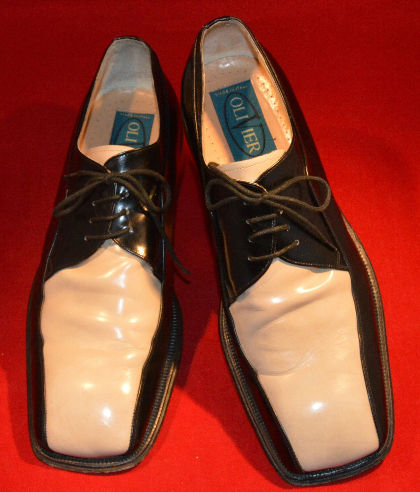 Men's new shoes shoes, OliVier, Black and Bone Size 11