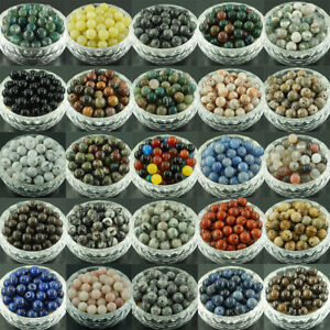 Wholesale-Lot-Natural-Gemstone-Round-Spacer-Loose-Beads-4mm-6mm-8mm-10mm-NO-2