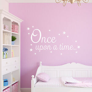 Once upon a Time Decal Book Corner Quote Vinyl Wall Sticker - Chichester, West Sussex, United Kingdom - Once upon a Time Decal Book Corner Quote Vinyl Wall Sticker - Chichester, West Sussex, United Kingdom