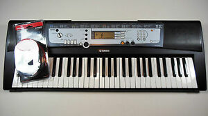 Belle Yamaha Psr-e213 Digital Electronic Keyboard W/ New Casio Midi Cable. Ships Free.