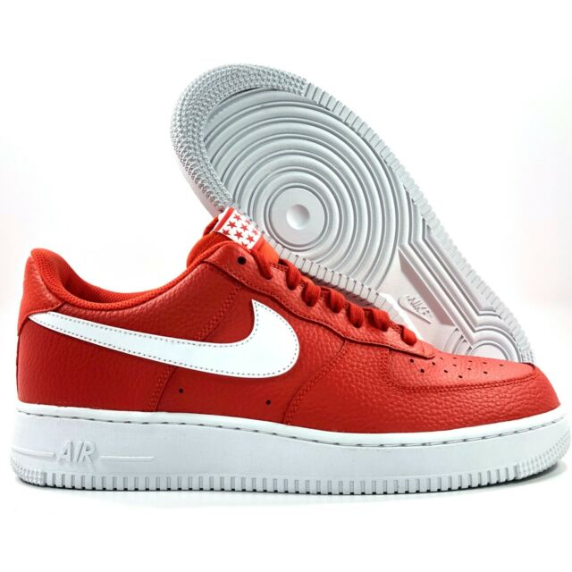 Nike Air Force 1 '07 Low Team Orange White AA4083 800 Men's 8.5 10