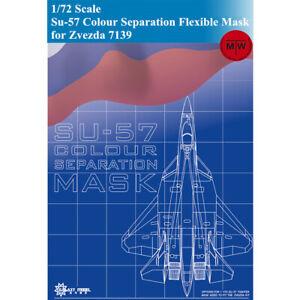 GALAXY D72002 1//72 Scale  Su-57 Colour Separation Flexible Mask for Zvezda 7139
