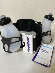 FuelBelt-Helium-2-Bottle-Hydration-Belt-Waist-Belt-Custom-Fit-Size-Medium