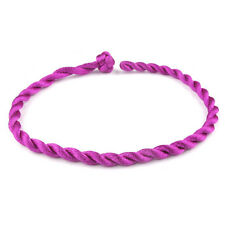 1 Purple STRING BANGLE . . . . Friendship Bracelet Adjustable Urban Fashion Wrap