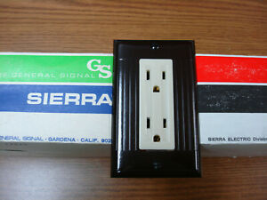 Sierraplex Biplex Triplex Vintage Switch Outlet Cover Plate 2 Gang Sierra Ivory