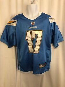 2d23d13b46d REEBOK SAN DIEGO CHARGERS #17 PHILIP RIVERS NFL FOOTBALL JERSEY SIZE ...
