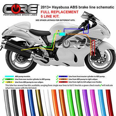 SUZUKI GSXR1300 HAYABUSA 2013-2018 ABS REAR CALIPER BRAKE LINE KIT 1 LINE