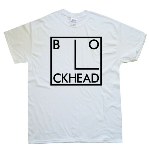 BLOCKHEAD new T-SHIRT sizes S M L XL XXL colours Black White
