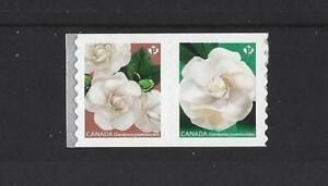 CANADA-2019-GARDENIA-SELF-ADHESIVE-COIL-PAIR-UNMOUNTED-MINT-MNH