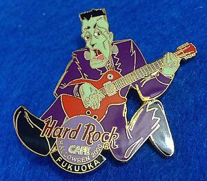 Fukuoka-Halloween-2000-FRANKENSTEIN-039-S-Monster-Cable-Guitare-Hard-Rock-Cafe-Pin