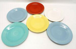 "FIESTAWARE SET OF 6 ASSORTED COLORED DINNER PLATES ~ 10.5"" DIAMETER ~ EUC"