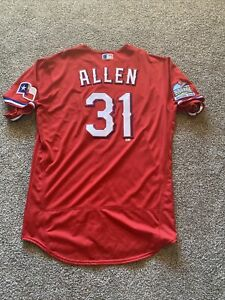 Details about Cody Allen Inaugural Patch Nike Texas Rangers Game Issued Jersey 2020