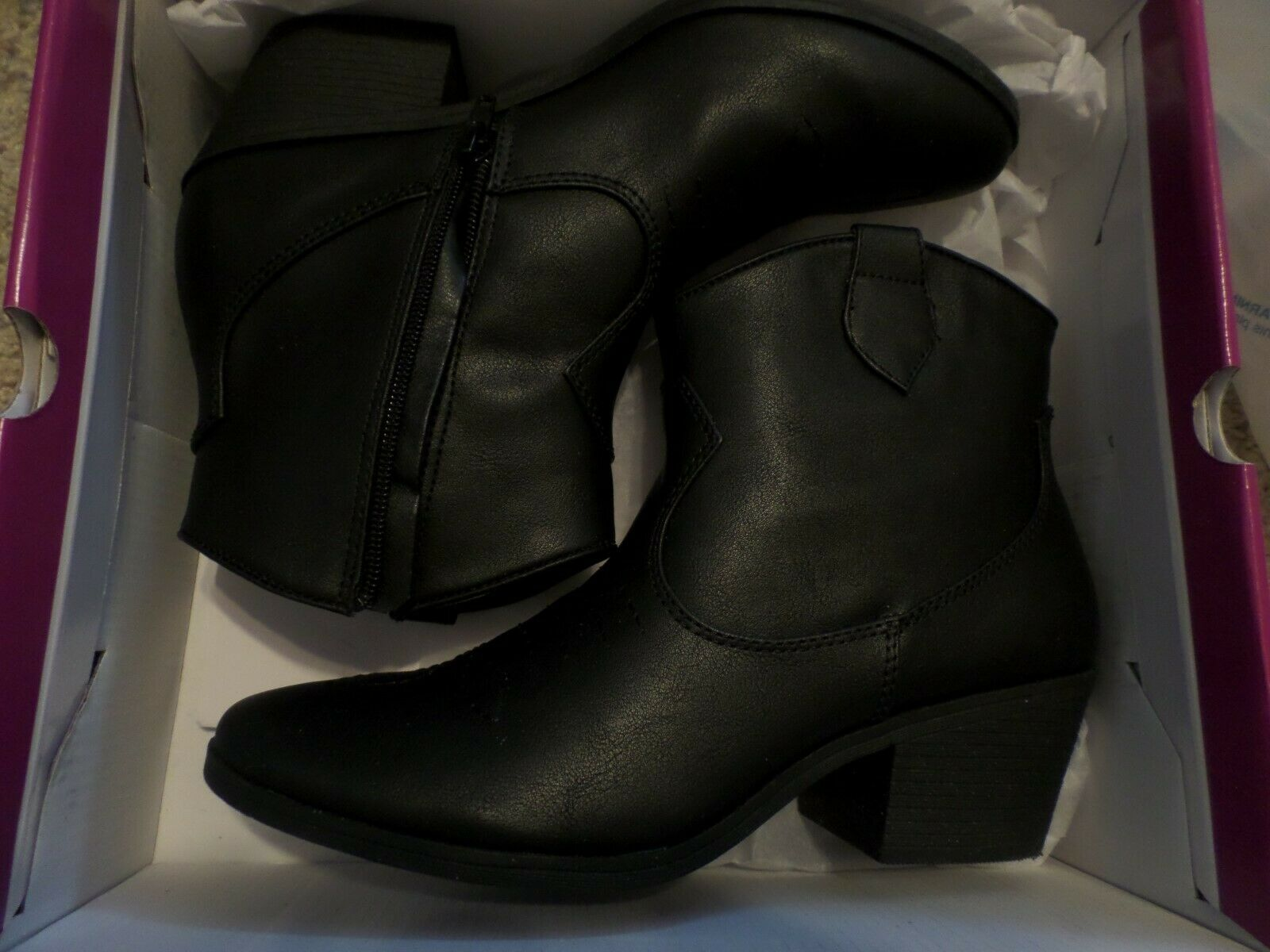 Women's Black , Boots by Rampage, Size 7-1 2M, New in Box