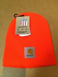 Carhartt One Size Acrylic Beanie Hat Cap Winter Warm Hunting Neon ... 548d56fc81c