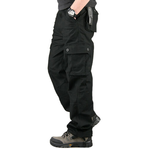 Mens Casual Camo Trousers Army Cargo Tactical Combat Military Work Pants Bottoms