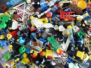 LEGO-Figuren-Figurenteile-Zubehoer-Torso-Beine-Fuesse-Koepfe-Zusammenstellung-waehlen