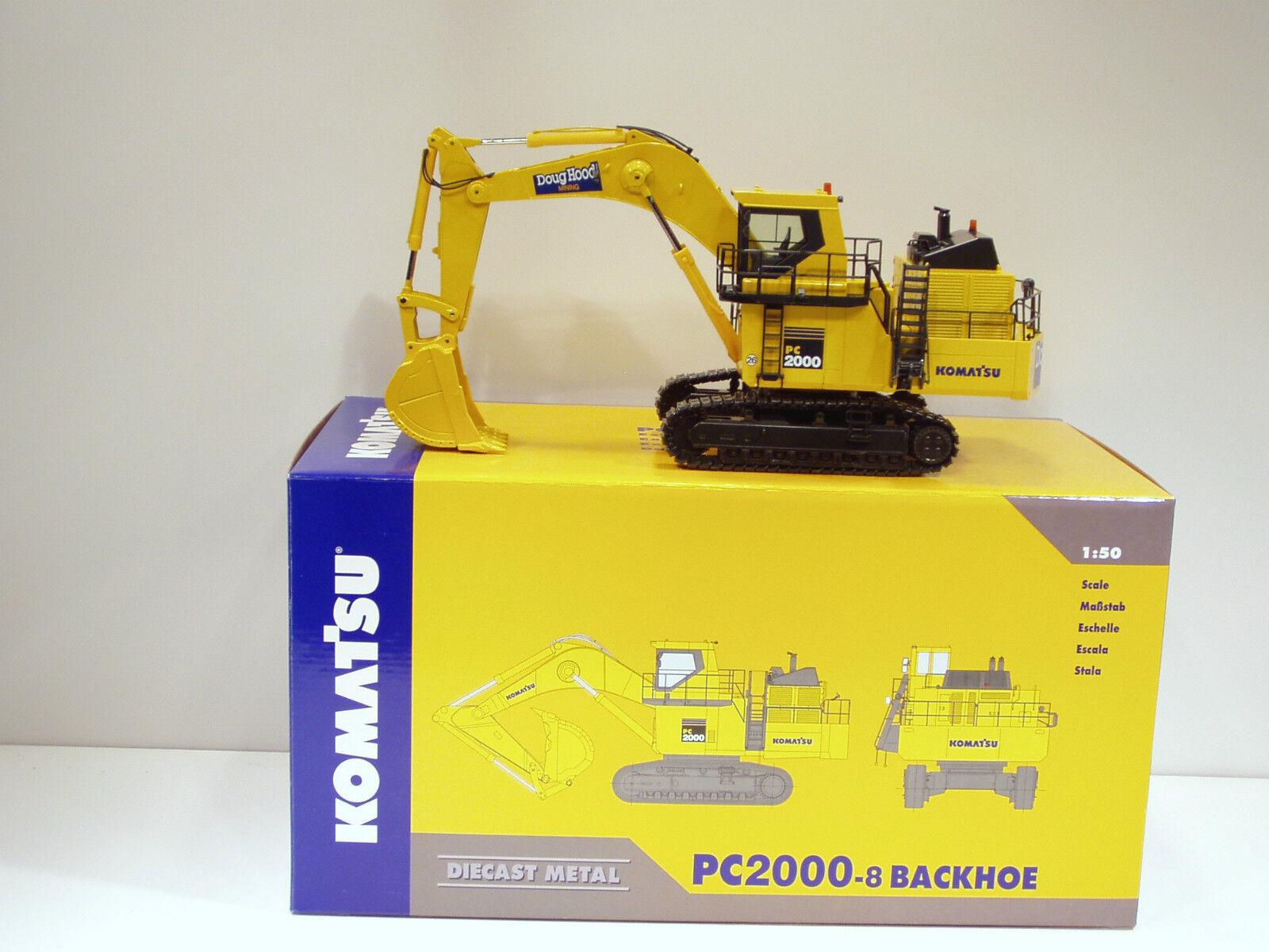 Komatsu PC2000-8 Excavateur -  Doug Capuche  - 1 50 - NZG  762.1.01 - En parfait état, dans sa boîte