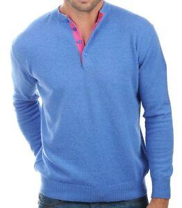 veli blu m girocollo maglione 100 cashmere Balldiri 2 rosa uomo melange wx0Yc6