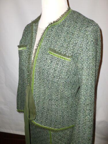 16 Tweed Jacket Nightingales Trim £185 Uk With Velvet Suit 14 Skirt Rrp SzqMUVp