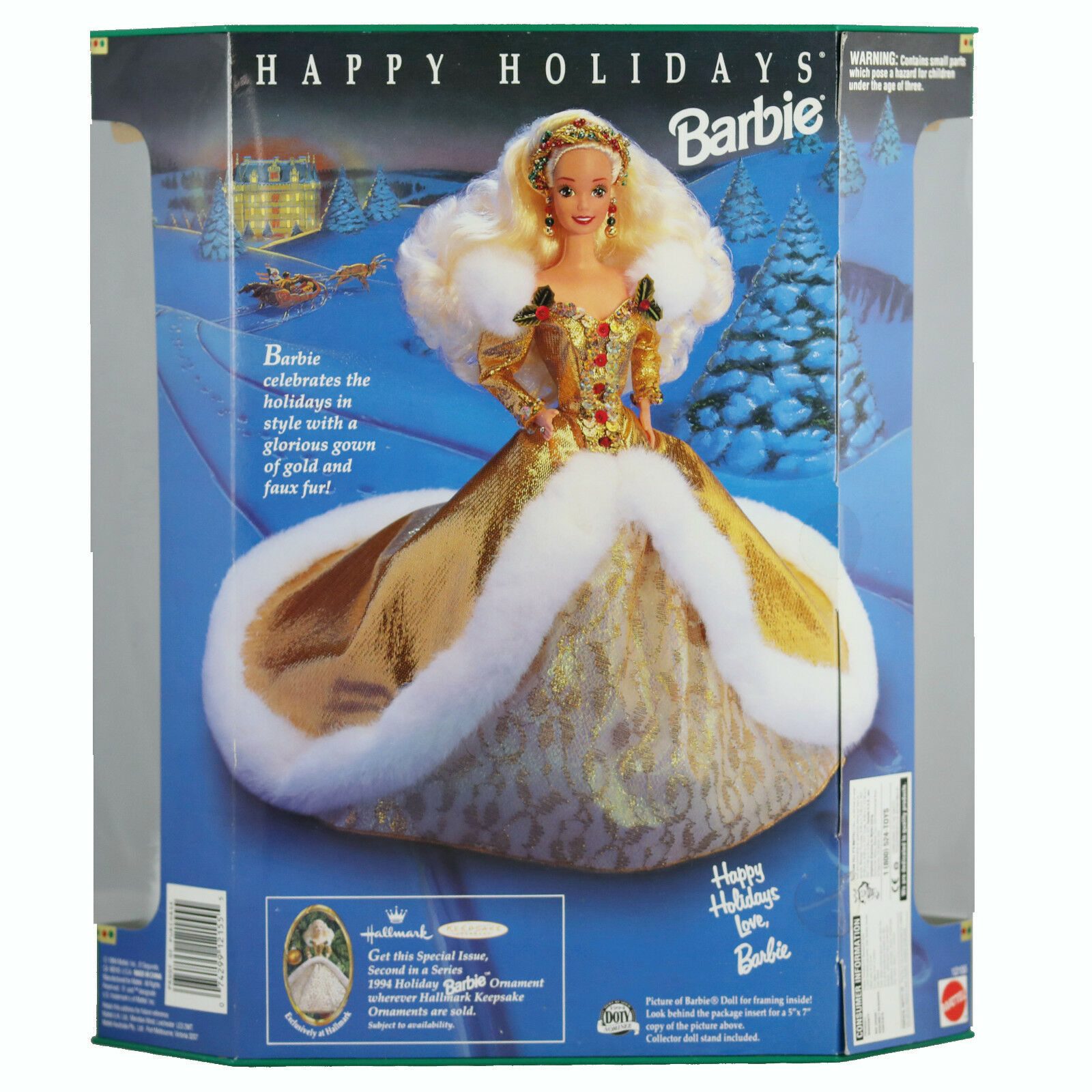 1994 Happy Holiday Barbie NRFB NRFB NRFB SIGNED by designer Janet Goldblatt 507991