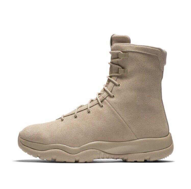 Nike Air Jordan Future Boot EP Khaki Suede Tan Field SFB Boots 878222-205 Sz 14