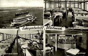 Echtfoto-AK-Schiffsfoto-1950-60-Fahrgastschiff-WESTMARK-Duisburg-Ruhrort-s-w-AK