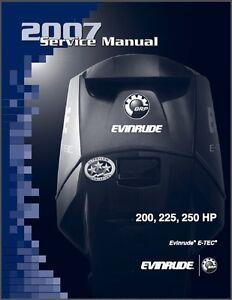 evinrude e tec 200 225 250 hp outboard motor service repair manual rh ebay com evinrude etec manual evinrude etec manual download
