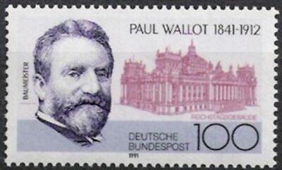 Mutig Bund Nr.1536 ** Paul Wallot 1991 Postfrisch Brd 1990-1999