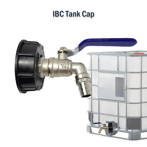 IBC-Tank-Cap-with-Brass-Tap-amp-3-4-034-Snap-On-Connector-Water-Butt-Fuel-Storage-New