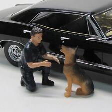 Figur ( Polizei Set mit Hund K9 Unit 2 ) 1:18 American Diorama