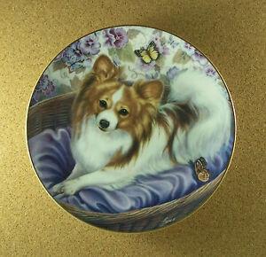 """/""""Stepping Up/"""" BICHONS FRISE DOG PUPPY Michele Amatrula The Danbury Mint Plate"""