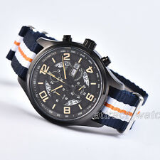 43mm Parnis Chronograph Quartz Mens Watch Sapphire Crystal Water Resistant 10ATM