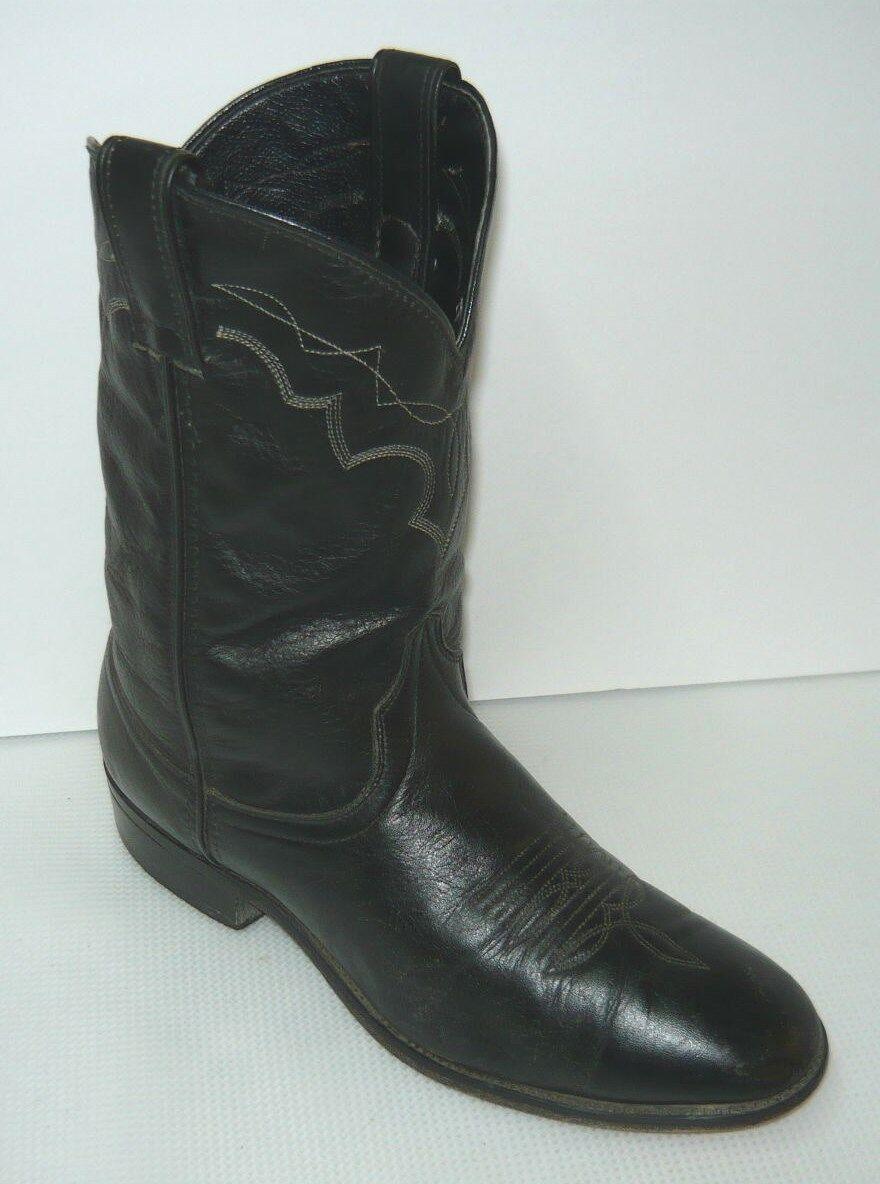 online retailer a095c f5850 ... scarpe  Gli stivali di pelle round nera laredo occidentale Uomo cucito  round pelle la stivali sz 91)