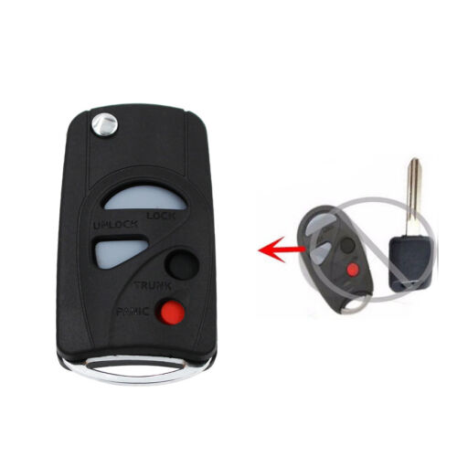 Modified Folding Remote Key Shell Case Fob 4 Button For Nissan CEFIRO A33