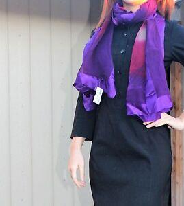 Victoria-Bracha-100-Silk-Scarf-in-Purple-with-Red-flower-pattern-NEW