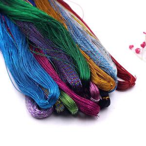 100M-Multicolor-Metallic-Sewing-Thread-DIY-Bundle-Handmade-Xmas-Gift-Ribbon-Trim