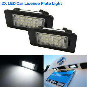 2X-LED-Car-Rear-License-Plate-Lights-Error-Free-Kit-Fit-For-BMW-E90-E92-E60-E70