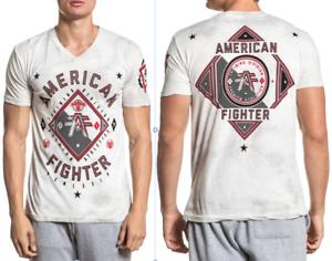 American-Fighter-Mens-Short-Sleeve-T-Shirt-GARDNER-Grey-Wht-Crystal-Wash-40-NWT