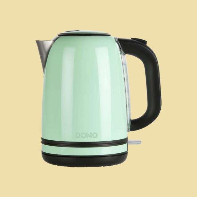 Domo Wasserkocher DO 489 WK - 1,7 Liter - 2200 Watt - hellgrün/schwarz